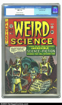 Weird Science #14 (#3) Gaines File pedigree 8/11 (EC, 1950) CGC NM+ 9.6 Off-white to white pages. This third issue's end...