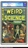 Golden Age (1938-1955):Horror, Weird Science #15 (#4) Gaines File pedigree (EC, 1950) CGC NM- 9.2Cream to off-white pages. While Al Feldstein provides the...