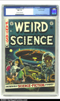 Golden Age (1938-1955):Science Fiction, Weird Science #16 Gaines File pedigree 4/11 (EC, 1952) CGC NM+ 9.6Off-white to white pages. Everyone knows about Wally Wood...