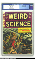 Golden Age (1938-1955):Science Fiction, Weird Science #17 Gaines File pedigree 4/9 (EC, 1953) CGC NM 9.4Off-white to white pages. As with most of its other titles,...