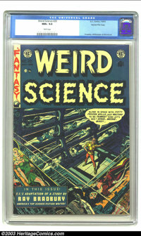 Weird Science #20 Gaines File pedigree 4/11 (EC, 1953) CGC NM+ 9.6 White pages. Seven pages of Frank Frazetta inking Al...