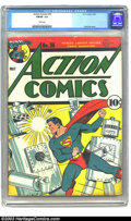 Golden Age (1938-1955):Superhero, Action Comics #36 (DC, 1941) CGC FN/VF 7.0 White pages. Fred Ray's classic robot cover is the highlight of this issue. The t...