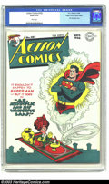 Golden Age (1938-1955):Superhero, Action Comics #102 Mile High pedigree (DC, 1946) CGC NM+ 9.6 White pages. You won't find another copy graded anywhere ne...