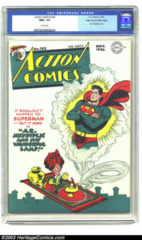 Action Comics #102 Mile High pedigree (DC, 1946) CGC NM+ 9.6 White pages. You won't find another copy graded anywhere ne...