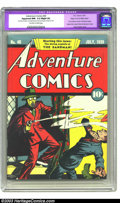 Golden Age (1938-1955):Superhero, Adventure Comics #40 Mile High pedigree (DC, 1939) CGC Apparent NM- 9.2 Slight (A) Off-white to white pages. Featuring the f...