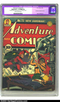 Golden Age (1938-1955):Superhero, Adventure Comics #72 (DC, 1942) CGC Apparent GD- 1.8 Slight (A) Cream to off-white pages. Here's an economy copy of a super ...