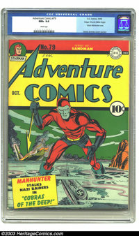 Adventure Comics #79 Mile High pedigree (DC, 1942) CGC NM+ 9.6 White pages. What better way to own a copy of this Simon...