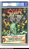 Golden Age (1938-1955):Superhero, All Star Comics #15 Rockford pedigree (DC, 1943) CGC NM- 9.2 Off-white to white pages. Brain Wave makes his first appearance...