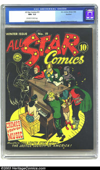 All Star Comics #19 Rockford pedigree (DC, 1943) CGC NM+ 9.6 Off-white to white pages. The entire Golden Age run of this...