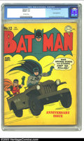 Golden Age (1938-1955):Superhero, Batman #12 (DC, 1942) CGC FN/VF 7.0 Off-white pages. The Joker makes an appearance in this second anniversary issue. Jerry R...