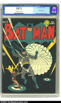 Golden Age (1938-1955):Superhero, Batman #13 (DC, 1942) CGC VF/NM 9.0 Off-white to white pages. Is there an early DC title with better covers than Batman?...