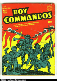 Boy Commandos #1 (DC, 1942) Condition: GD+. No Jack Kirby collection should be without a copy of this famous first issue...