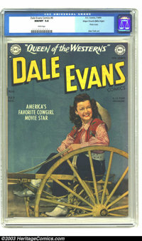 Dale Evans Comics #6 Mile High pedigree (DC, 1949) CGC NM/MT 9.8 White pages. America's favorite cowgirl movie star has...