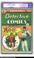 Golden Age (1938-1955):Superhero, Detective Comics #38 (DC, 1940) CGC Apparent VF+ 8.5 Slight (P) Off-white pages. Robin makes his debut with this issue, crea...