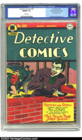 Golden Age (1938-1955):Superhero, Detective Comics #109 Mile High pedigree (DC, 1946) CGC NM/MT 9.8White pages. This copy is, and undoubtedly will remain, th...
