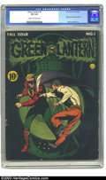 Golden Age (1938-1955):Superhero, Green Lantern #1 (DC, 1941) CGC VG 4.0 Cream to off-white pages. Howard Purcell's cover of this premiere issue is one of the...