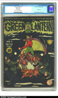 Golden Age (1938-1955):Superhero, Green Lantern #3 (DC, 1942) CGC VG- 3.5 Light tan to off-white pages. Martin Nodell's classic German war cover is not the ea...