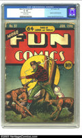 Golden Age (1938-1955):Superhero, More Fun Comics #51 (DC, 1940) CGC GD- 1.8 Off-white pages. For years, this key has been avidly sought after since it contai...