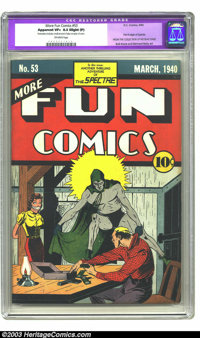 More Fun Comics #53 (DC, 1940) CGC Apparent VF+ 8.5 Slight (P) Off-white pages. Part II of the Spectre's origin is told...