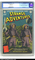 Golden Age (1938-1955):Science Fiction, Strange Adventures #1 (DC, 1950) CGC FN+7.5 Off-white to whitepages. DC's first sci-fi title had a long and interesting run...
