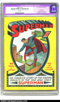 Golden Age (1938-1955):Superhero, Superman #1 (DC, 1939) CGC Apparent VF/NM 9.0 Extensive (P) Whitepages. A truly historic book, Superman #1 arrived scar...