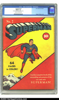 Superman #2 (DC, 1939) CGC FN/VF 7.0 Cream to off-white pages. Superman's second issue followed in the footsteps of #1...