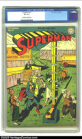 Golden Age (1938-1955):Superhero, Superman #31 (DC, 1944) CGC VF+ 8.5 Off-white to white pages. The cover is by Wayne Boring, who dominated as the interpr...