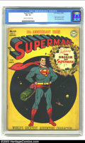 Golden Age (1938-1955):Superhero, Superman #53 (DC, 1948) CGC FN- 5.5 Cream to off-white pages. This issue occasioned the 10th anniversary of the title and fe...