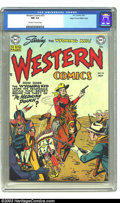 Golden Age (1938-1955):Western, Western Comics #23 Mile High pedigree (DC, 1951) CGC NM 9.4 Off-white to white pages. This Howard Sherman cover showcases th...