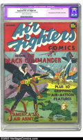 Golden Age (1938-1955):War, Air Fighters Comics #1 (Hillman Fall, 1941) CGC Apparent FN 6.0Slight (P) Cream to off-white pages. While the Black Command...