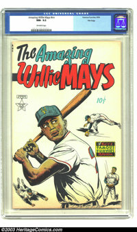 The Amazing Willie Mays #nn File Copy (Famous Funnies, 1954) CGC NM- 9.2 Off-white pages. This scarce book appeals to co...
