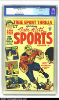 Golden Age (1938-1955):Non-Fiction, Babe Ruth Sports Comics #5 File Copy (Harvey, 1949) CGC VF- 7.5Cream to off-white pages. This comic book isn't supposed to ...