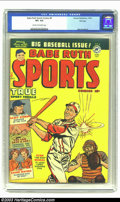 Golden Age (1938-1955):Non-Fiction, Babe Ruth Sports Comics #9 File Copy (Harvey, 1950) CGC VF+ 8.5Cream to off-white pages. This issue of the true sports anth...