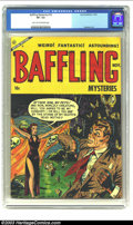 Golden Age (1938-1955):Horror, Baffling Mysteries #18 (Ace, 1953) CGC VF- 7.5 Light tan tooff-white pages. Collectors of pre-code horror comic books know ...