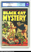 Golden Age (1938-1955):Horror, Black Cat Mystery #32 File Copy (Harvey, 1951) CGC NM 9.4 Cream tooff-white pages. This bizarre bondage cover goes uncredit...