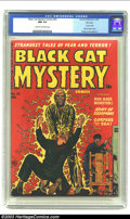 Golden Age (1938-1955):Horror, Black Cat Mystery #33 File Copy (Harvey, 1952) CGC NM 9.4 Cream tooff-white pages. This fabulous electric chair cover featu...