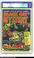 Golden Age (1938-1955):Horror, Black Cat Mystery #34 File Copy (Harvey, 1952) CGC NM- 9.2 Cream tooff-white pages. A fair maiden is bound unconscious and ...