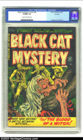 Golden Age (1938-1955):Horror, Black Cat Mystery #38 File Copy (Harvey, 1952) CGC VF/NM 9.0 Creamto off-white pages. EC didn't have the monopoly on bloodl...
