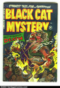 Golden Age (1938-1955):Horror, Black Cat Mystery #42 (Harvey, 1953) Condition: VF/NM. Here is asparkling copy of Harvey pre-code horror. In fact, this col...