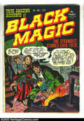 Golden Age (1938-1955):Horror, Black Magic Group (Prize, 1950). This great lot not only has lotsof Simon and Kirby art, but the first issue is signed at t...(Total: 9 Comic Books Item)