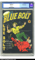 Golden Age (1938-1955):Superhero, Blue Bolt #10 Cosmic Aeroplane pedigree (Novelty Press, 1941) CGC VG/FN 5.0 Off-white pages. With a literal boot to the head...