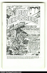 Boy Explorers #2 (Harvey, 1946) Condition: VF+. A Simon and Kirby production, this title lasted just two issues, then be...