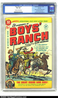 """Golden Age (1938-1955):Western, Boys' Ranch #1 File Copy (Harvey, 1950) CGC VF+ 8.5 Cream to off-white pages. Another """"boy"""" vehicle for Simon and Kirby was ..."""
