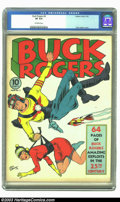 Golden Age (1938-1955):Science Fiction, Buck Rogers #2 (Eastern Color, 1941) CGC VF 8.0 Off-white pages.Even though this book came out in 1941, it definitely has a...