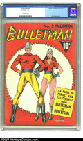 Golden Age (1938-1955):Superhero, Bulletman #2 (Fawcett, 1941) CGC VF/NM 9.0 Off-white pages. Cover artist Mac Raboy is high on our list of Golden Age greats,...