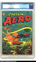 Golden Age (1938-1955):Science Fiction, Captain Aero Comics #26 (Holyoke Publications, 1946) CGC VF 8.0Light tan to off-white pages. Holyoke/Continental attracted ...