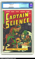 Golden Age (1938-1955):Science Fiction, Captain Science #4 (Youthful Magazines, 1951) CGC VF- 7.5 Cream tooff-white pages. If the bubble-helmeted space guys and th...