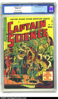 Golden Age (1938-1955):Science Fiction, Captain Science #5 (Youthful Magazines, 1951) CGC VF/NM 9.0 Cream to off-white pages. The team of Wally Wood and Joe Orlando...