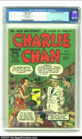 Golden Age (1938-1955):Crime, Charlie Chan #1 (Crestwood, 1948) CGC VF- 7.5 Off-white pages. Jack Kirby and Joe Simon created a fantastic cover for this r...