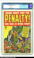 Golden Age (1938-1955):Crime, Crime Must Pay the Penalty #2 (Current Books, 1948) CGC NM 9.4 Off-white pages. All you crime comic collectors know how hard...